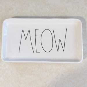 Rae Dunn Meow cat dish